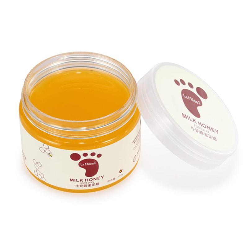 Honey Milk Foot Wax Feet Mask Moisturizing Hydrating Nourishing Whitening Skin Care Peel Off Dead Skin Exfoliating Anti-dry Mask 2