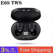 A6s e6s tws bluetooth fone de ouvido sem fio fones para xiaomi redmi airdots cancelamento ruído com microfone handsfree