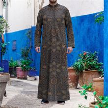 Eid Ramadan Men Abaya Dubai Turkey Indianislamic Clothing 2021 New Muslim Fashion Long Sleeve Robe Casual Loose Soft Dress