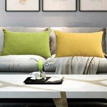 Almofada de veludo de milho de cor sólida sofá cintura travesseiro retangular cadeira encosto do assento traseiro cabeceira travesseiro capa sem núcleo