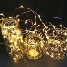 Guirnalda de luces guirnalda de luces Led de 1M, 2M, 5M, adornos navideños para el hogar, alambre de plata, guirnaldas de San Valentín, árbol de la habitación de festón