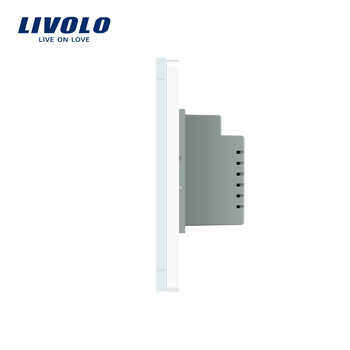 Livolo White Crystal Glass Panel, AC110~250V, LED indicator, AU/US Standard Doorbell Switch VL-C901B-11