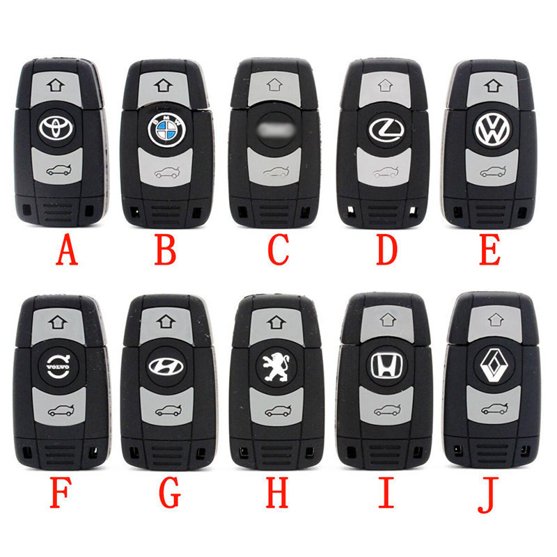 JASTER Creative Fashion Gift Plastic Car Key Usb Pen Drive Memory Stick Usb 2.0 4G 8G 16G 32G 64G Free Shipping Memory U Disk