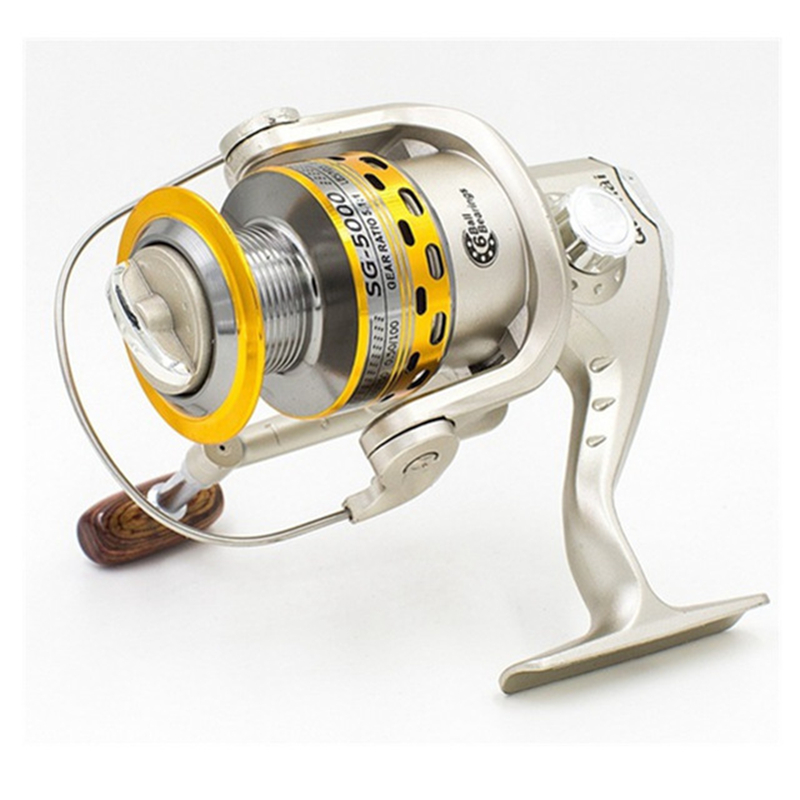 Double Chinese Dragons Metal Head Spinning Reel Drum Barrel Sea Pole Wheel Winding Front Drain Fishing Reel(China)