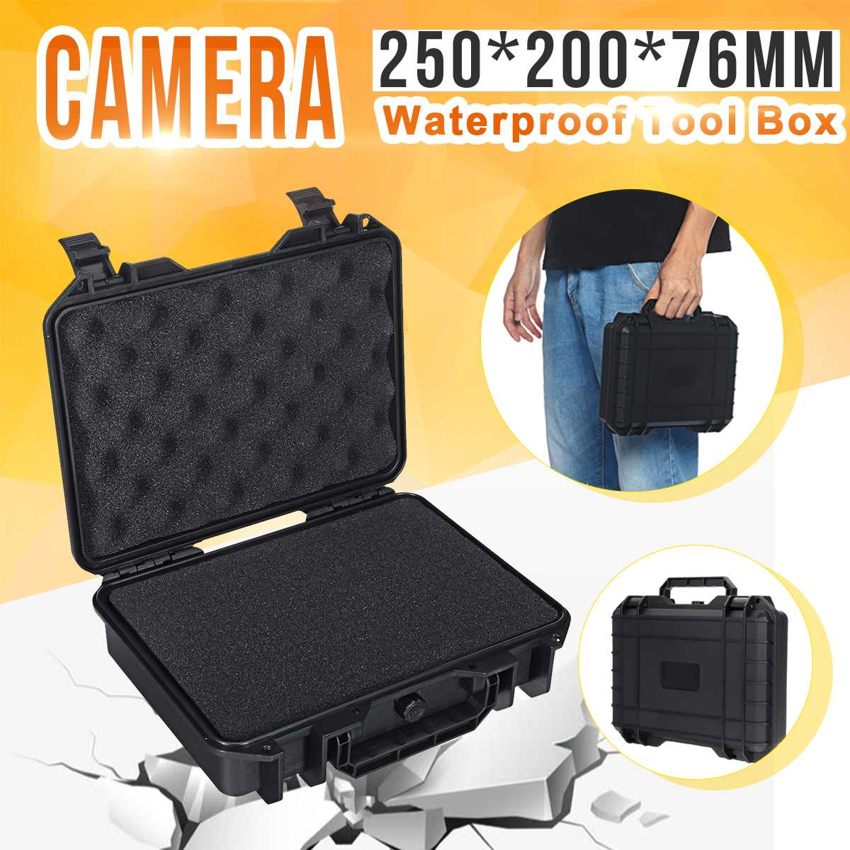 MG6235 Protective Safety Instrument Tool Box Waterproof Shockproof Storage Toolbox Sealed Tool Case Impact Resistant Suitcase