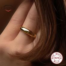 CANNER-Anillos de plata de ley 925 auténtica para mujer, sin talla, anillo abierto Simple brillante, joyería fina, Anillos de plata 925