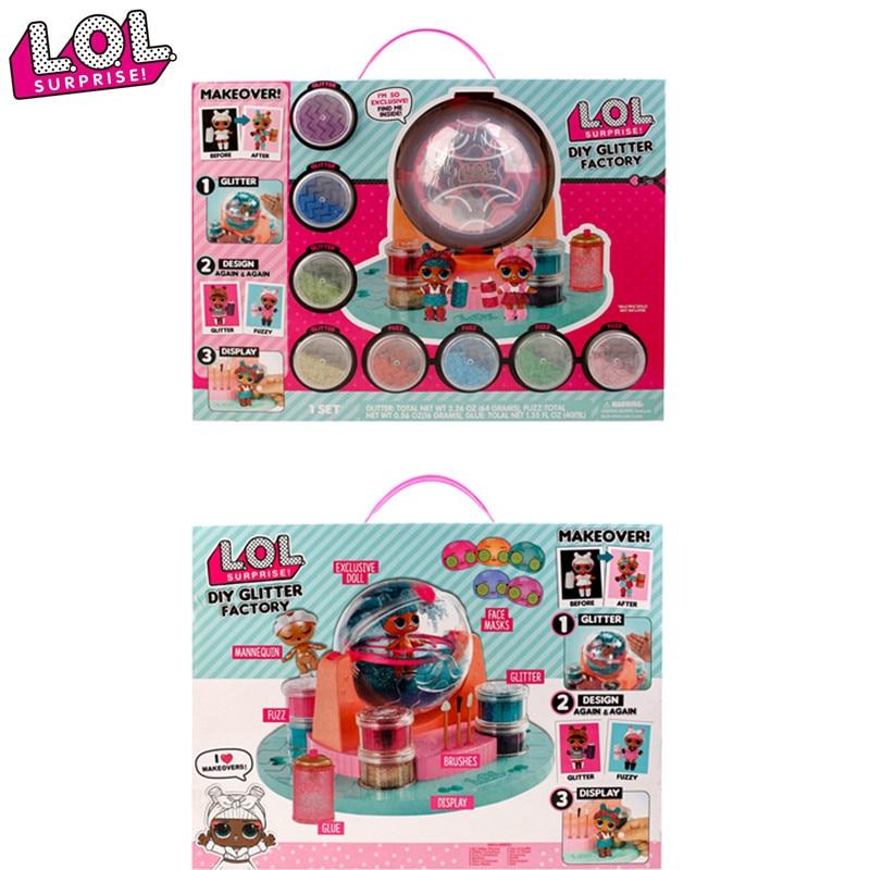 LOL dolls Original lol surprise dolls lols DIY GLITTER FACTORY lol surprise baby doll Capsule girl toy for girls birthday gifts фото