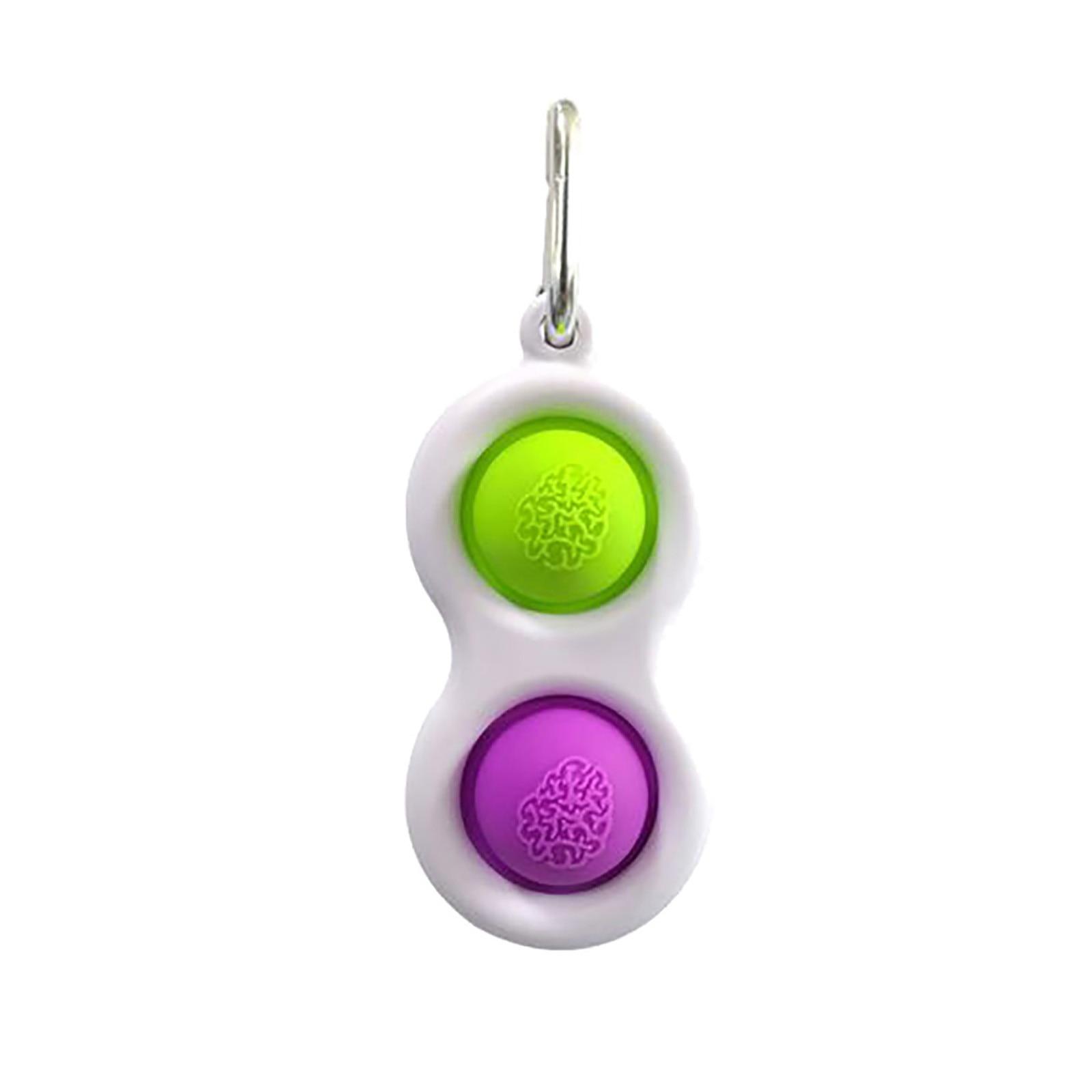 Keychain Fidget-Toys Decompression Toy Stress Relief Dimple Antysresowe for Children img5