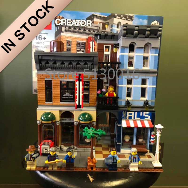 10246 Creator Detective Office 15011 2262Pcs Street View Model Building Blocks Bricks Toys 15001 15006 15035 15002 15037