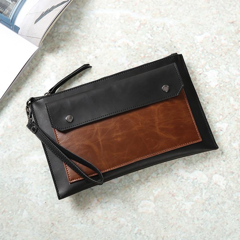 2019 fashion new pattern clutch bag hand bag street mobile phone bag tide men 39 s and women 39 s wrist bag Korean leisure