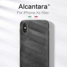 Чехол-бампер SanCore для iPhone X/XS/XSMax, замшевый, цвет черный/серый/темно-зеленый