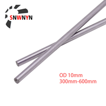 2PCS OD 10mm Optical Axis Length 300mm 400mm 500mm 600mm Round Rod Linear Shaft Cylinder Linear Rail 3D Printer Part RU SHIPPING 2pcs bag japan potentiometer b200 european x2 axis length 25 round shaft