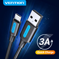 Vention Micro USB Cable 3A Fast Charging USB Data Cable 2M 3M For Samsung Xiaomi Huawei Android Mobile Phone USB Charging cable