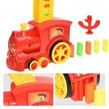 Toy-Set Domino Blocks Domino-Train-Set Light Puzzle Game Gift Children's Girl Color Sound