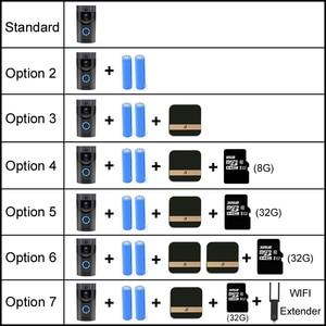 Image 5 - Anytek B30 WIFI Doorbell B30 IP65กันน้ำประตูสมาร์ทวิดีโอChime 720Pไร้สายIntercom FIRนาฬิกาปลุกIR Night Vision IPกล้อง