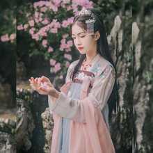 Disfraz de hada tradicional china para mujer, Hanfu, ropa de danza folclórica Oriental, disfraz de princesa de la diosa Han