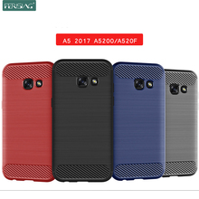 Case For Samsung Galaxy A5 2017 Case Silicone TPU Bumper Shockproof Carbon Cover for Samsung Galaxy A5 2017 A5200 A520F Case