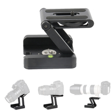 Folding Z Type Stand Holder Professional Tripod Kit Flex Tilt Head Pan Ball Desktop Compatible Camera Camcorder