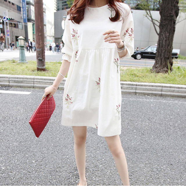 Loose Summer Maternity Dresses of Cotton 3