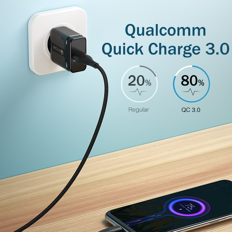 Image 3 - Quick Charge 3.0 18W Qualcomm QC 3.0 4.0 Fast charger USB portable Charging  Mobile Phone Charger For iPhone Samsung Xiaomi-in Mobile Phone Chargers from Cellphones & Telecommunications