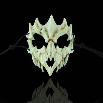 Resin Reusable Halloween Mask Skull Half Face Halloween Promotion Skull Half Face Skeleton Warrior Generations Masquerade Mask фото