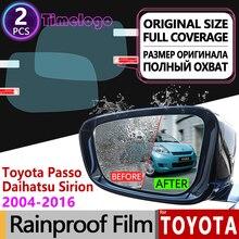 цена на For Toyota Passo Daihatsu Sirion Boon M300 M600 2004 - 2016 Anti Fog Film Rearview Mirror Rainproof Anti-Fog Films Accessories