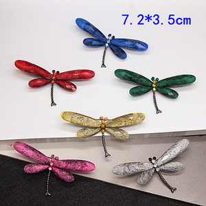 JUJIE Fashion Dragonfly Brooches For Women Vintage Insect Brooch Pin Men Jewelry Wholesale/Dropshipping(China)