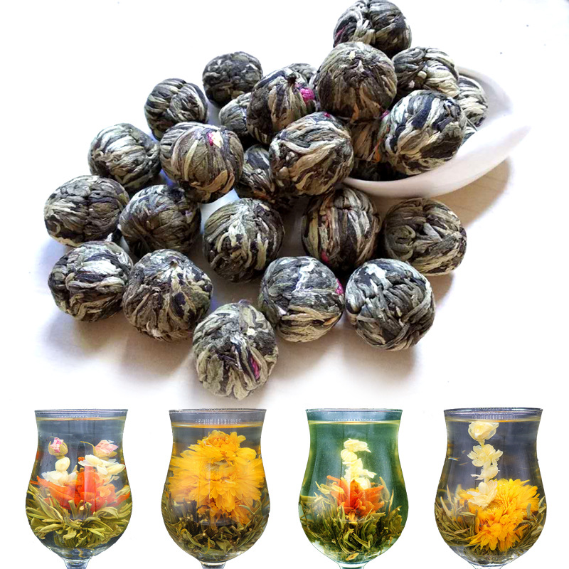 7A High Quality Handmade Print Chinese Flowering'-Balls Craft Green Millennium Food For Weight Loss Health Care