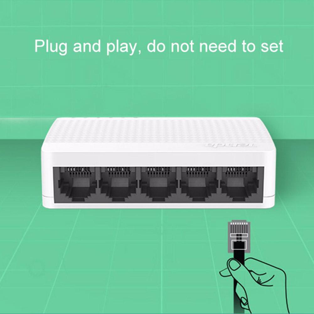 Tenda S105 Ethernet Switch Mini 5 Port Desktop Ethernet Network Switch 100Mbps LAN Hub Network Switch LAN Hub