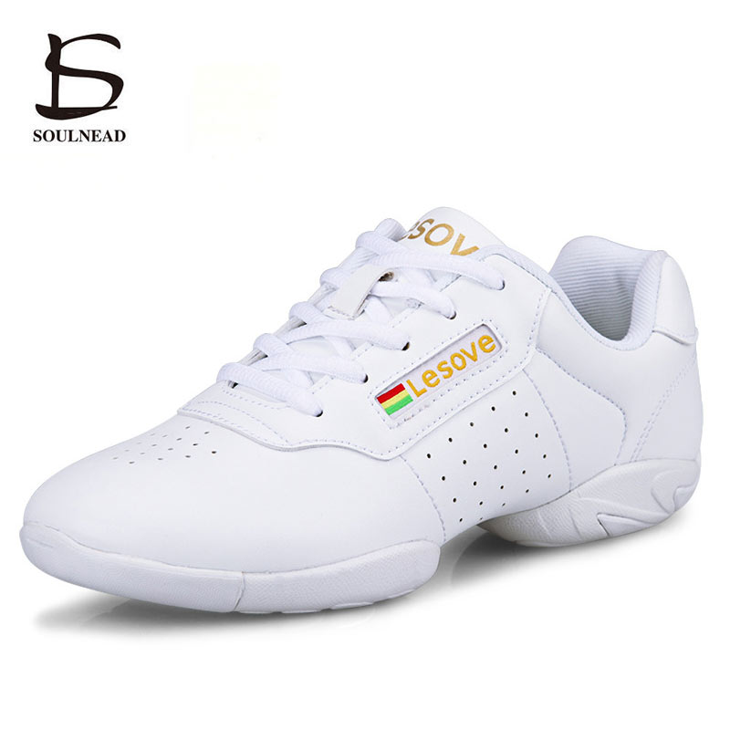 Kids Sneakers Soft Sole White Children's Competitive Aerobics Shoes Women Fitness Sports Shoe Modern/Jazz/Hip-hop Dance Shoes