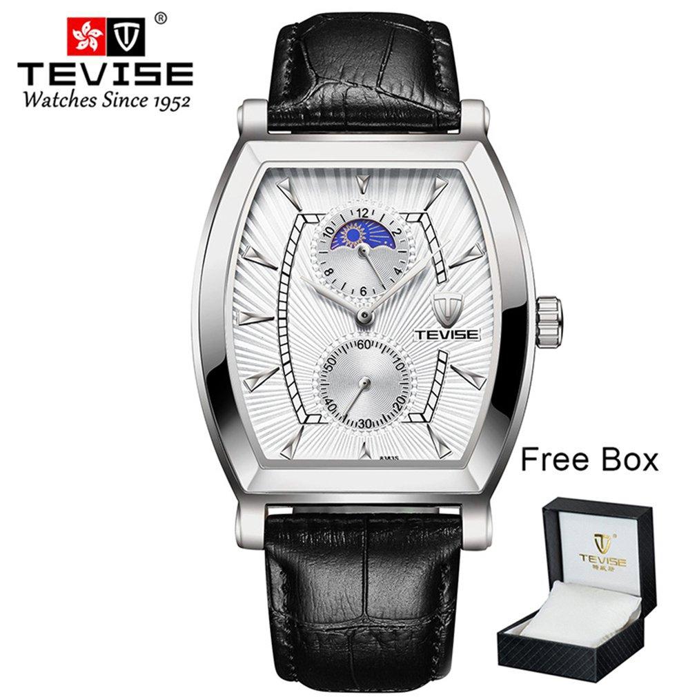 TEVISE Men's 8383S Quartz  Watch Stainless Steel Belt Box Packaging Luminous Watch Waterproof Solid Belt