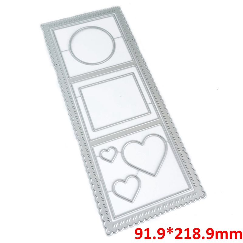 Essential Circle Square Heart Nesting Frame Metal Cutting Dies Set For DIY Scrapbooking Craft Album Paper Cards 2020 Hot-1