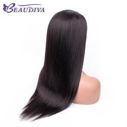 BEAUDIVA волосы, человеческие волосы короткие боб парики для очаровательных Для женщин Бразильский прямые волосы Синтетические волосы на
