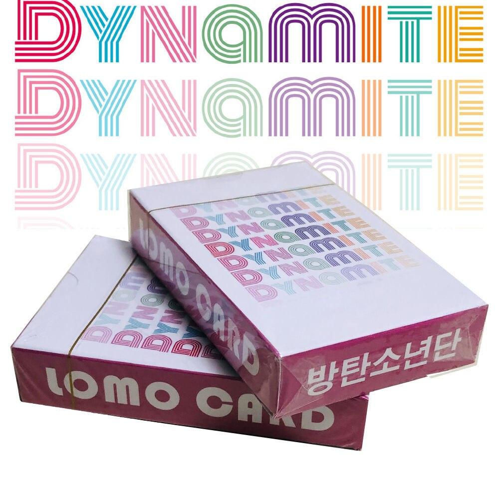 54 pçs/set K-POP bangtan meninos lomo cartão cartaz novo álbum dinamite photocard cartões parede banner foto