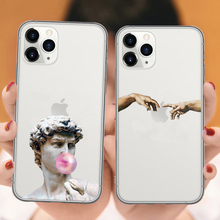 Мягкий чехол для телефона Art Fresco Michelangelo Creation of Adam для iPhone 11 Pro Max SE 5S 6 6s 7 8 Plus X XR XS MAX