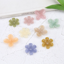 6pcs new design hot-sales fresh resin with holes flower earrings for women petals hair accessories diy fashion jewelry making