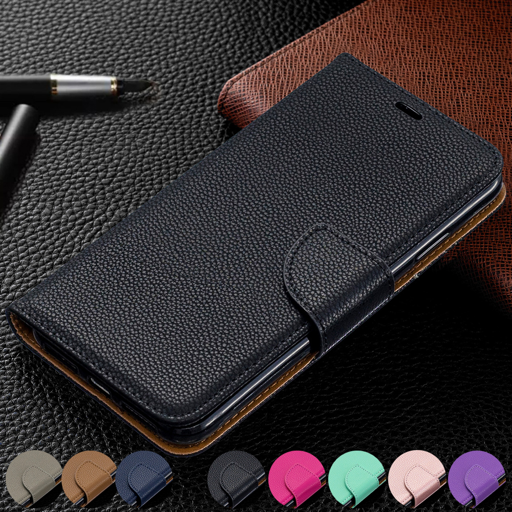 Wallet Phone Case for iPhone 11 Pro Max Xr X Xs Max 8 7 6 6s Plus Flip PU Leather Cover Stand Magetic Closure with Card Holder-in Flip Cases from Cellphones & Telecommunications