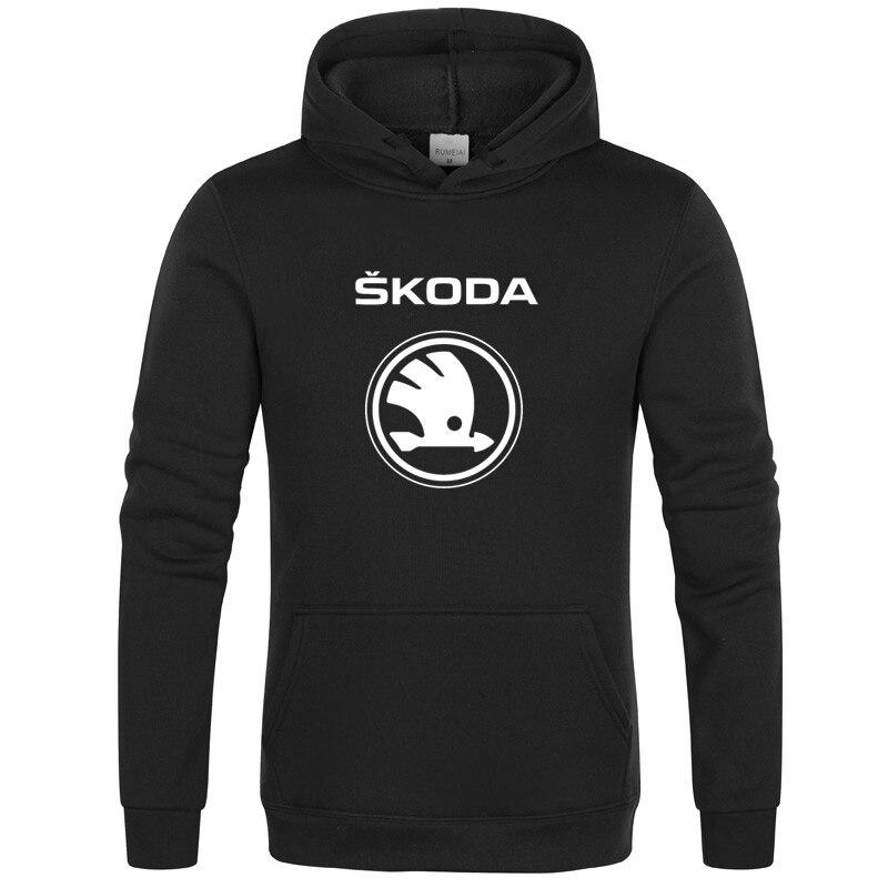 New Fashion Skoda Car Logo Sweatshirt Hoodies Men Hoody Spring Autumn Fleece Cotton Zipper Jacket HipHop Harajuku Male Clothing