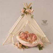 Dvotinst bebê recém nascido fotografia adereços mini wigwam tenda decoração fotografia acessórios infantil estúdio tiro foto prop