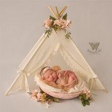Dvotinst新生児の写真の小道具ミニナイロンテントウィグワムマットテント装飾fotografiaアクセサリーinfantilスタジオ撮影写真プロップ