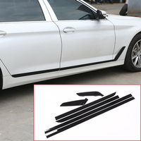For BMW 5 Series G30 2017 2018 Car-styling Accessories ABS Chrome Gloss black Side Door Decoration Strips Trims