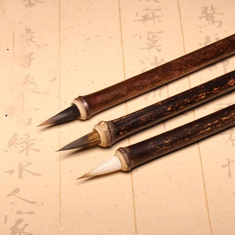 cabelo de coelho tradicional caligrafia chinesa escrita escova escrita escrita pratica escova pequeno script regular fornecimento