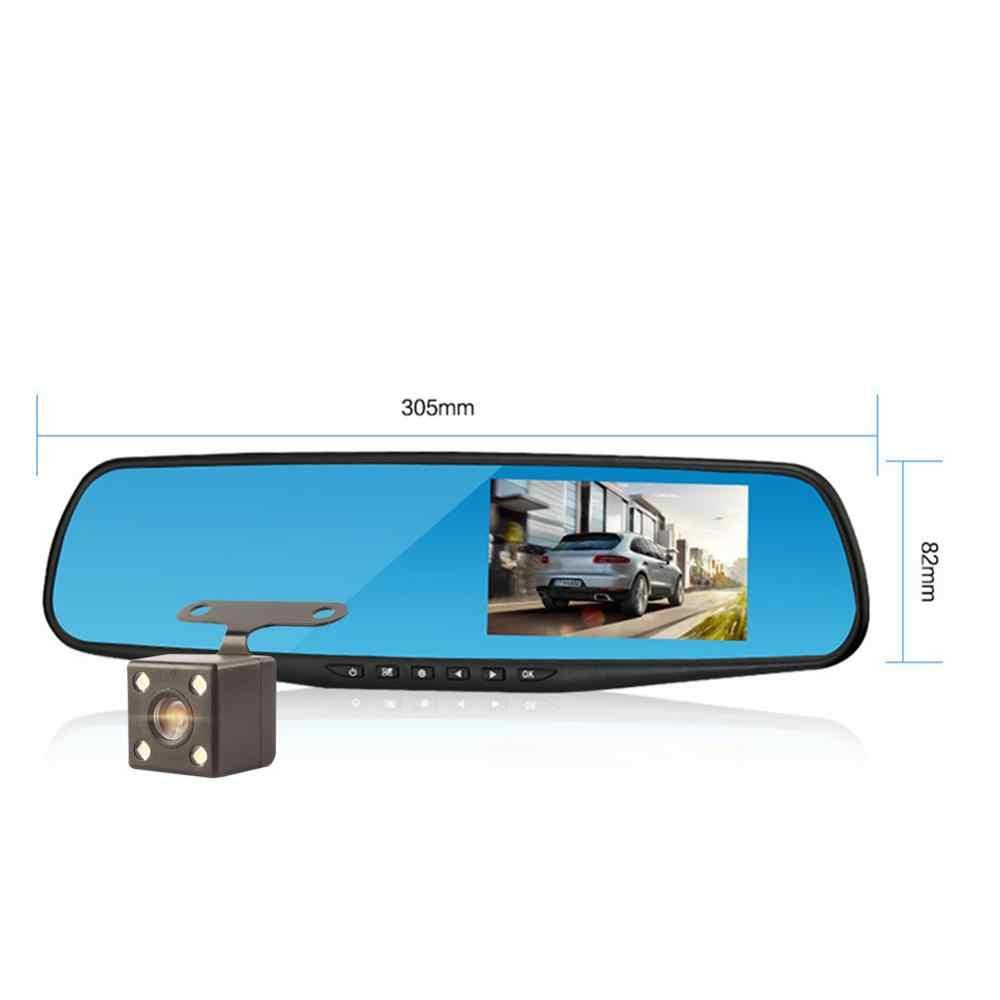 4,3 дюймов 1080P Автомобильный зеркало заднего вида Автомобильный видеорегистратор Full HD 1080p Автомобильный видеорегистратор для вождения автомобиля камера заднего вида автомобиля двойной объектив видеорегистратор