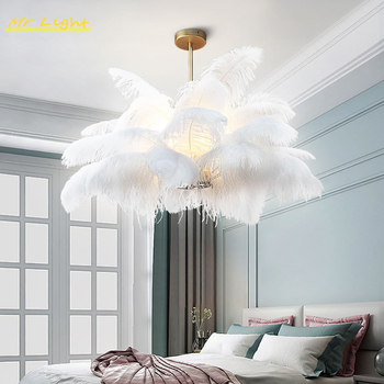 Nordic Feather Lamps Pendant Hanging Lamps Living Room Bedroom Hotel Decor Modern Pendant Lights Lighting Kitchen Pendant Lamp