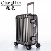 "2"" 25"" 2"" дюймов, Алюминиевый сплав, чемодан для багажа, для путешествий, на колесиках, Спиннер на колесиках, Жесткая Сторона, для переноски багажа, чемодан"