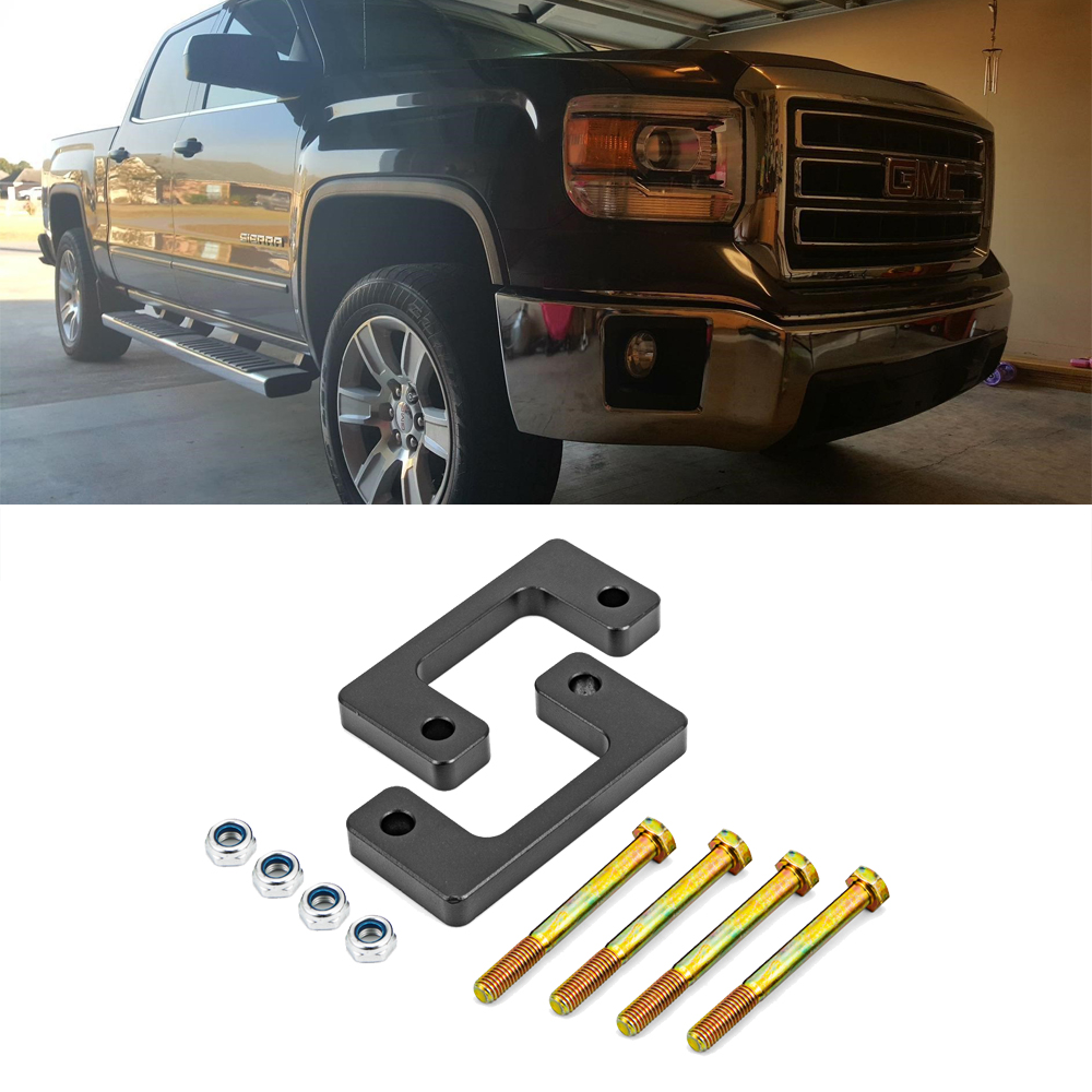 2 inches Front Suspension Leveling lift Spacer kit for 2007-2019 Chevy Silverado GMC Sierra GM 1500 LM image