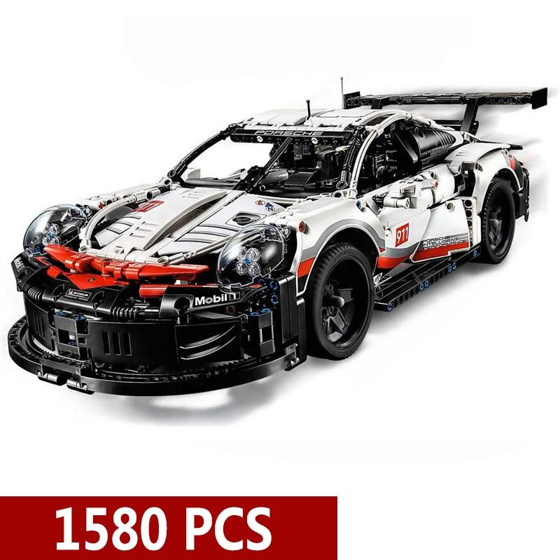 New Technic Series Supercar 20097 1580Pcs 911 RSR Sport Car Model Building Blocks Bricks Toy Children Christmas Gift Present
