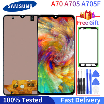 100% Tested Good Working LCD For Samsung Galaxy A70 A705 SM-A705F LCD Display Touch Screen Digitizer Assembly With Free Gift psc10119d 1h258w pkg5 6709v00008a good working tested
