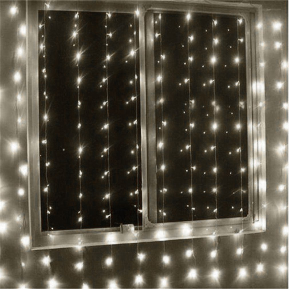 Fairy Curtain Lamp Super Bright LED Icicle String Lights Garden Decorative String Lamp Christmas Wedding Party Decor