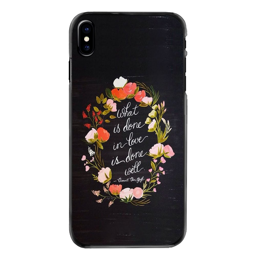 For iPhone 11 Pro iPod Touch 4 4S 5 5S 5C SE 6 6S 7 8 Plus X XR XS MAX What is done in love is done well Print Mobile Phone Case image